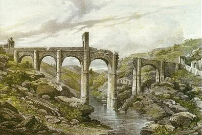 puente_romano_de_alcantara_litografia_sXIX