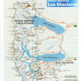 Mapa Parque Nacional Los Glaciares