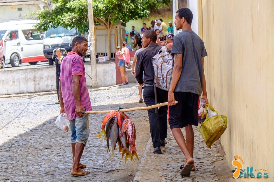 Mercado em São Filipe, Ilha do Fogo, Cabo Verde