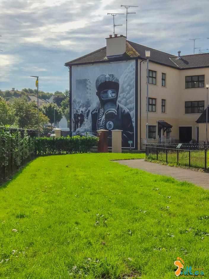 Murais de Derry, na Irlanda do Norte